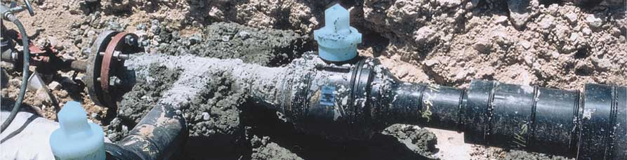 Poly-Water valves buried